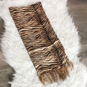 100% Zebra print silk scarf